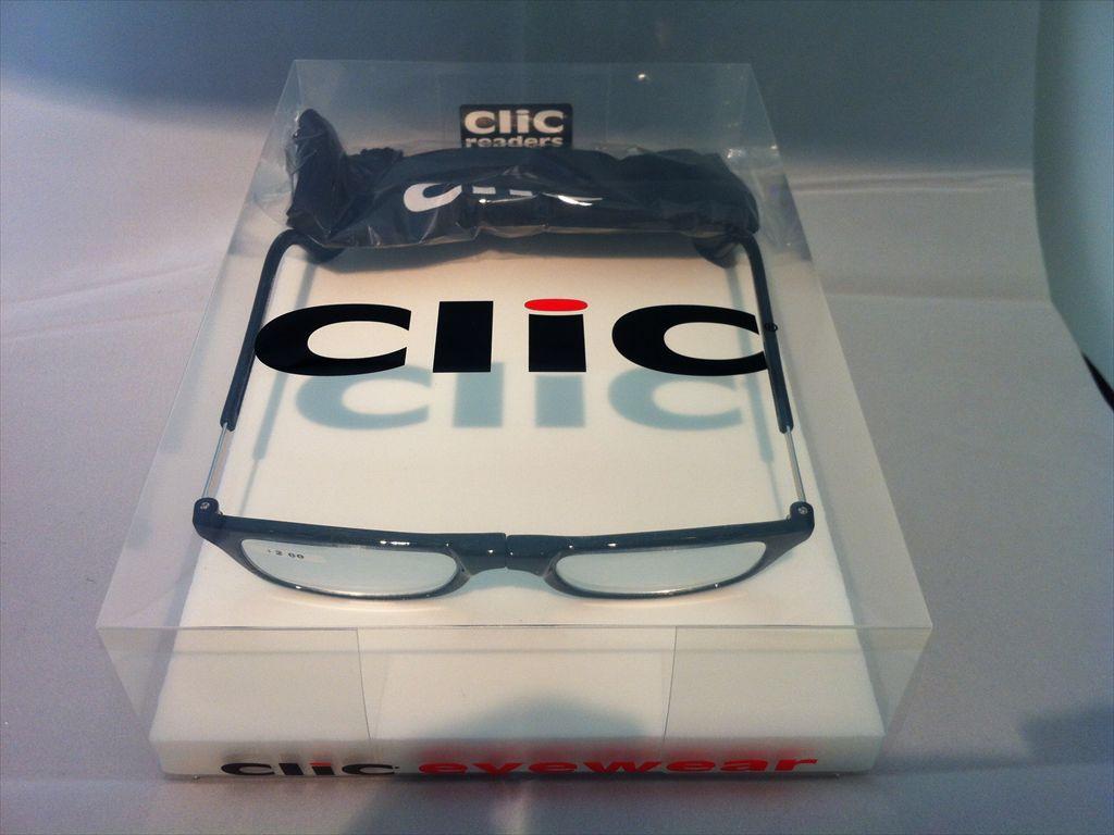 画像1: 既成老眼鏡メガネ(既成眼鏡) 老眼用 遠視用 Clic readers(クリックリーダー) 新品