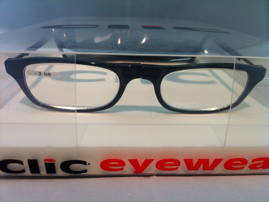 画像2: 既成老眼鏡メガネ(既成眼鏡) 老眼用 遠視用 Clic readers(クリックリーダー) 新品