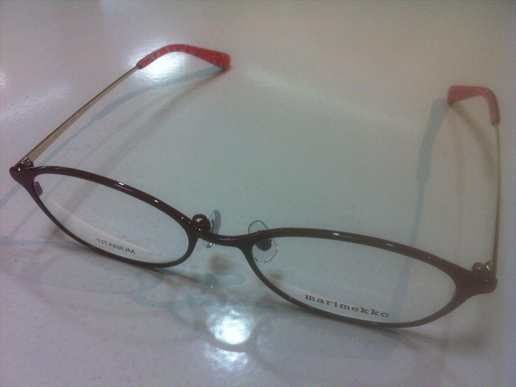 画像1: marimekko(マリメッコ) メガネフレーム 51サイズ 新品