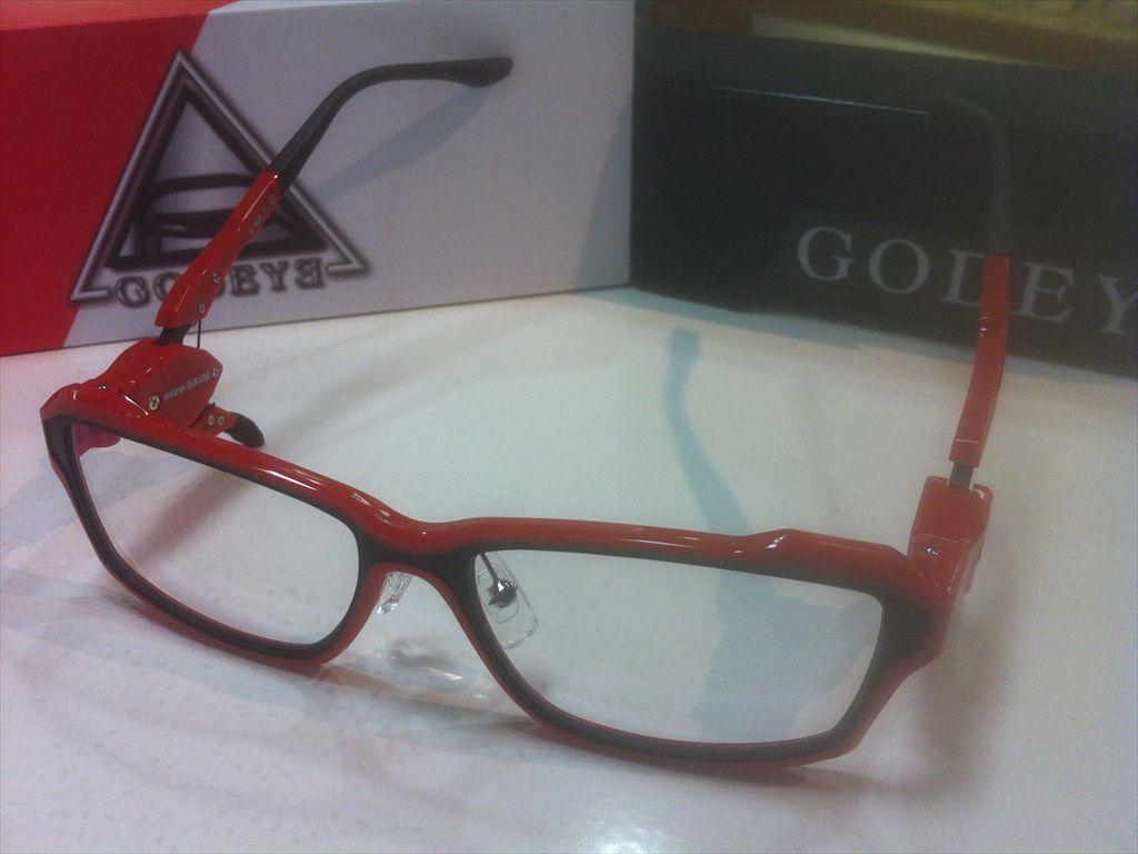 画像1: GODEYE(ゴッドアイ) ゲーミンググラス ゲーマー用メガネ 56サイズ 新品
