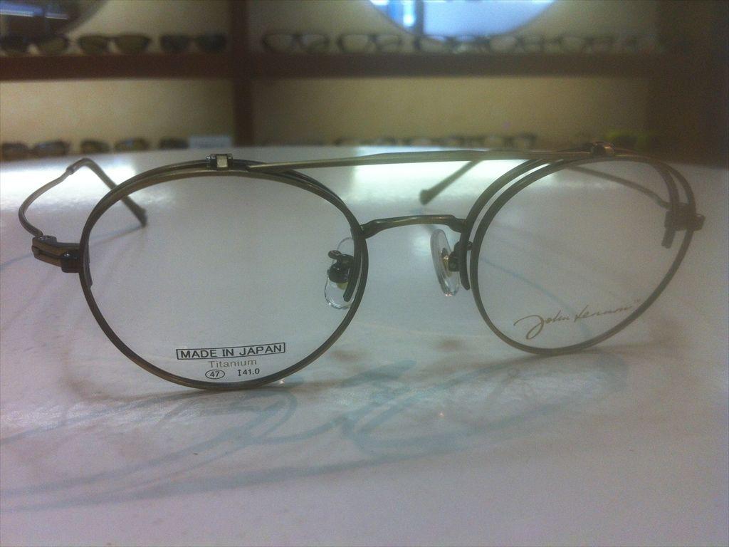 画像3: John Lennon(ジョンレノン) 跳ね上げ(ハネアゲ)式フレーム (単式) 丸型メガネフレーム 47サイズ 新品